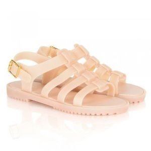Brand New Melissa Flox Flat Blush Sandals 9